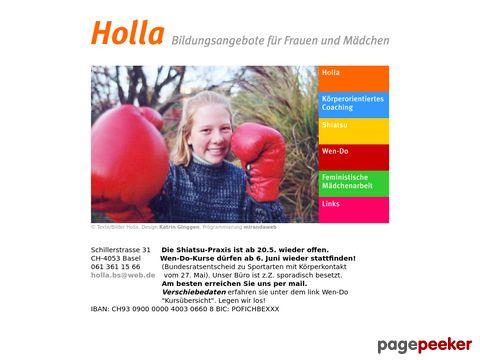 holla.ch - Holla Bildungsangebote für Frauen und Mädchen