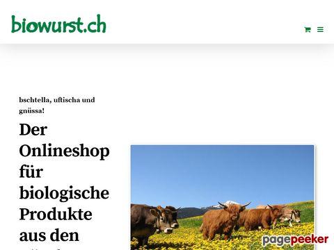 biowurst.ch - ihr bio online shop - Biofleisch aus den Bündner Bergen