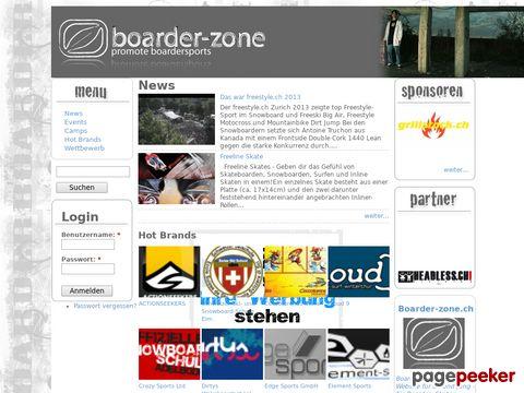 boarder-zone.ch - promote boardersports - Kitesurf - Skateboard - Snowboard - Surf - Wakeboard - Windsurf