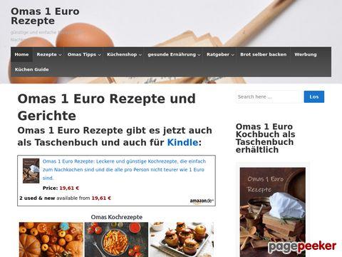Omas 1 Euro Rezepte und Gerichte