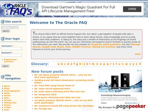 Oracle FAQ