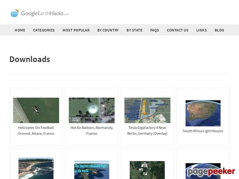 Google Earth Hacks - File Downloads - KMZ-Database