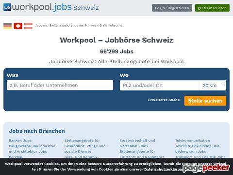 workpool.jobs - Das gratis Portal für Ihre Jobsuche in der Schweiz