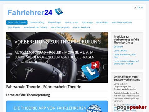 Fahrlehrer24.ch - Das Lernportal für Verkehrstheorie, Theorieprüfung und  Auto Theorie