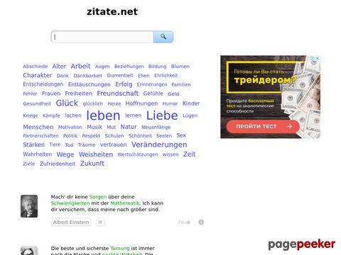 zitate.net - Zitate und Sprüche online