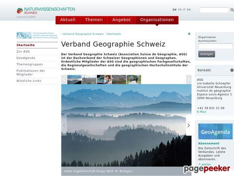 swissgeography.ch - Verband Geographie Schweiz (ASG)