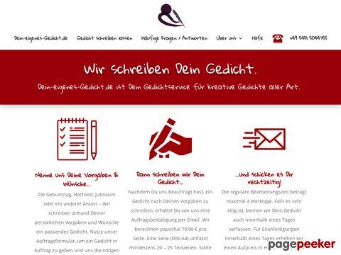 personal poetry - Gedichte schreiben lassen