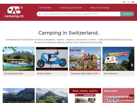 Camping.ch - Der Schweizer Camping Guide auf dem Internet