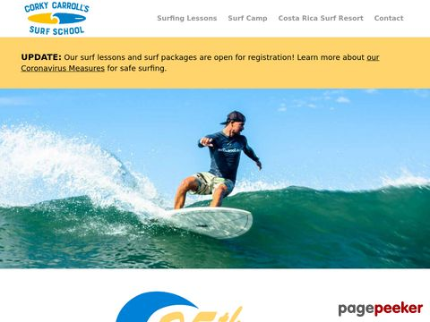 Corky Carrolls Surf School - Lessons - Lodging (Costa Rica)