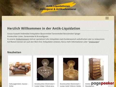 antik-liquidationen.ch - Gartenmöbel, Bronzefiguren, Antiquitäten und Bauernmöbel