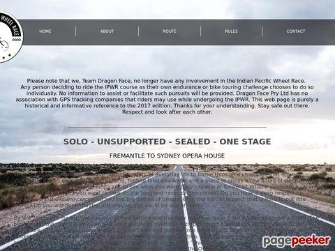 Indian Pacific Wheel Race - a solo unsupported bike race across Australia