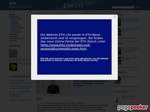 ETH Life - die tägliche Web-Zeitung