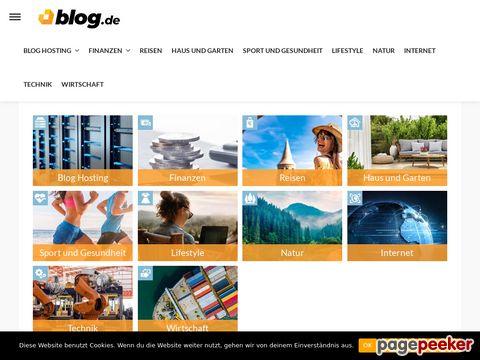 blog.de - Erstelle hier dein kostenloses Blog