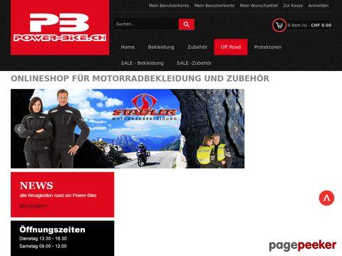 Power-Bike Onlineshop - Onlineshop für Motorradbekleidung und Zubehör
