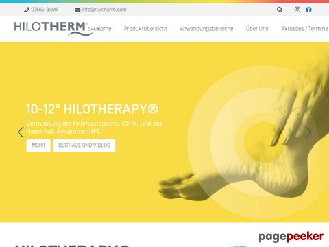 Hilotherapie  - Alternative Schmerztherapie