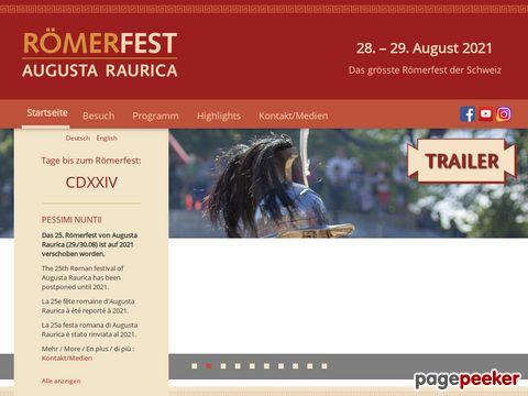 Römerfest - jedes Jahr Ende August in Augusta Raurica (Augst, Schweiz)