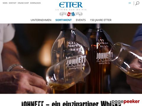 Johnett Whisky - Swiss Single Mals Whisky - distilled by Etter Zug