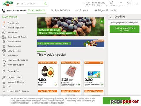 LeShop.ch - Der bliebteste Schweizer Online-Supermarkt