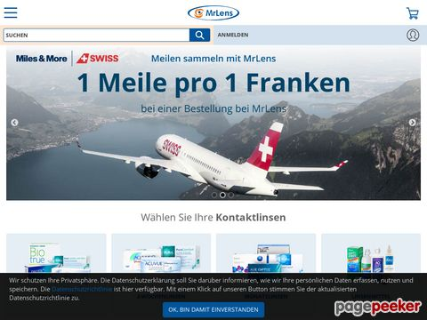 KONTAKTLINSEN bis 50 % günstiger bei MrLens.ch