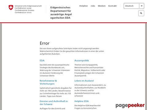 EDA - Reisehinweise für: Kolumbien