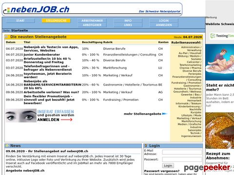 nebenJOB.ch - Das Schweizer Nebenjobportal