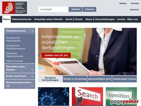 epo.org - Europäisches Patentamt (EPO)