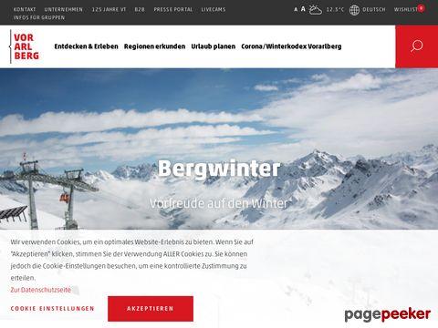vorarlberg.travel - Reiseplattform von Vorarlberg (AT)
