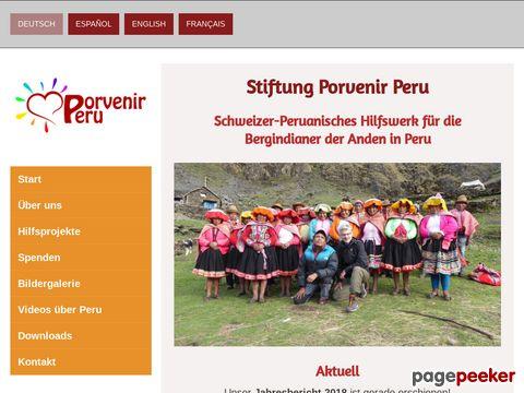 porvenirperu.org - Hilfsprojekte Peru - Stiftung für die Hilfe der Indigenen Völker in Peru