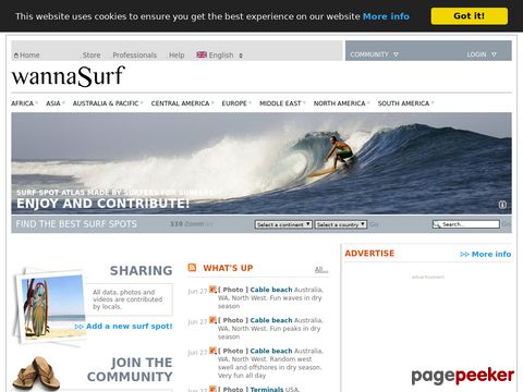 WannaSurf, surf spots atlas, surfing photos, map (weltweit)