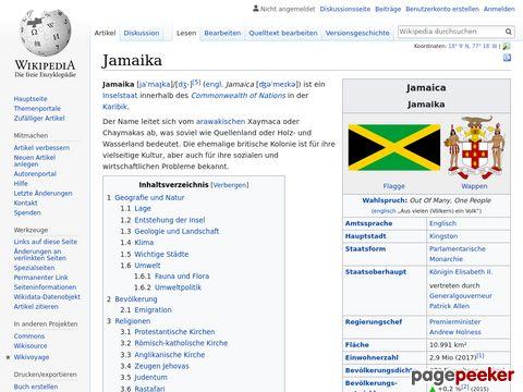 Jamaika - Lexikoneintrag bei Wikipedia