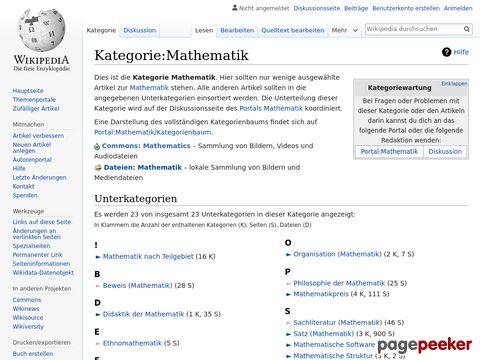 Mathematik - Wikipedia - Mathematische Begrifferklärungen