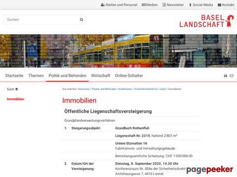 Kanton BL - Öffentliche Versteigerungen: Immobilien