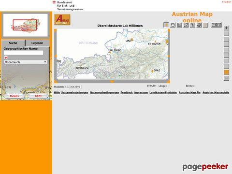 austrianmap.at - Austrian Map Online (Oesterreich)