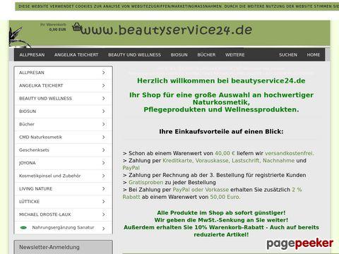 beautyservice24.de - Online Shop mit Naturkosmetik, Kosmetik, Seifen, Schmiktipps, Schönheitstipps