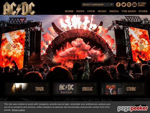 AC/DC - official website