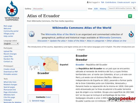 Atlas of Ecuador/ - Wikimedia Commons