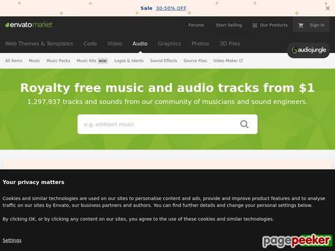 AudioJungle - Royalty Free Music - Sound Effects - Stock Audio