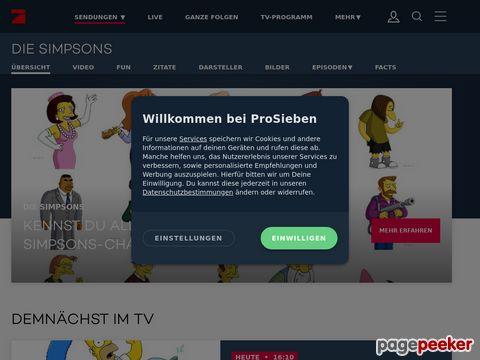 Simpsonizer auf ProSieben.de