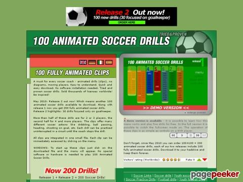 Fussball Training - 100 Animierte Trainingsprogramme.