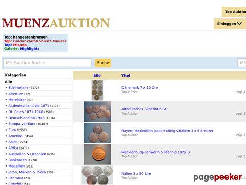 muenzauktion.com - Münzen, Gold, Medaillen Antike, Altdeutschland bis Euromünzen bei MA