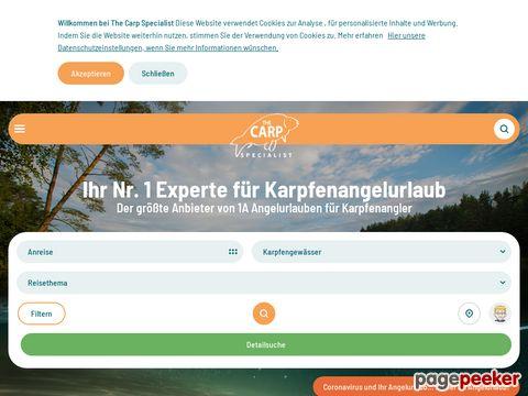 The Carp Specialist Reiseziele für Karpfenangler