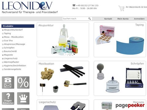 Leonidov Onlineshop für TCM