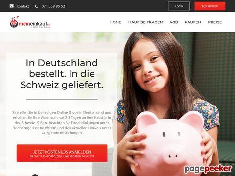 meineinkauf.ch - in .de-Shops einkaufen. MeinEinkauf.ch liefert in die Schweiz.