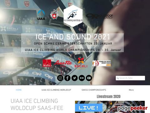 Ice Climbing Worldcup - Saas-Fee - Saastal (Switzerland)