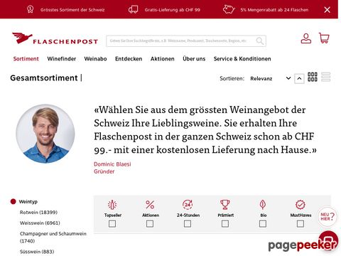 flaschenpost.ch - 10000 Weine von 50 Anbietern Bestellbar