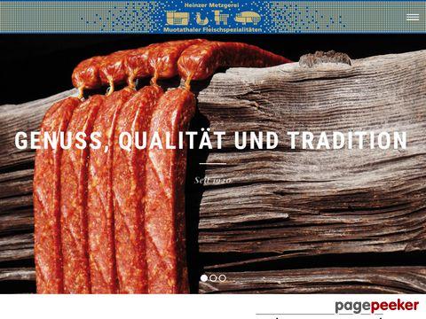 Heinzer Metzgerei - Muotathaler Fleischspezialitäten