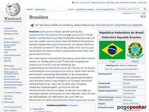 Wikipedia - Brasilien