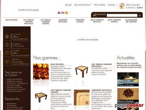 carrom-online.com - Carrom boards and accessories (French)
