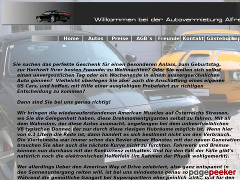 rent-full-power.at - Autovermietung von US Muscle cars
