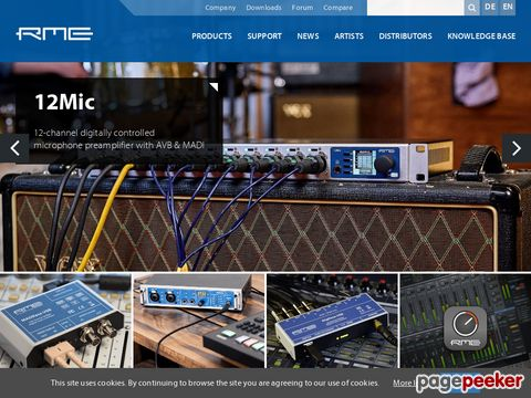 RME - innovative, user friendly, and high-quality digital audio solutions for less money